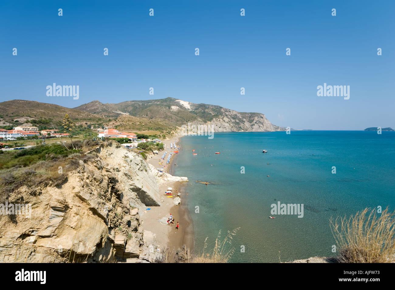 Beach in Kalamaki, Zakynthos, Ionian Islands, Greece - Stock Image