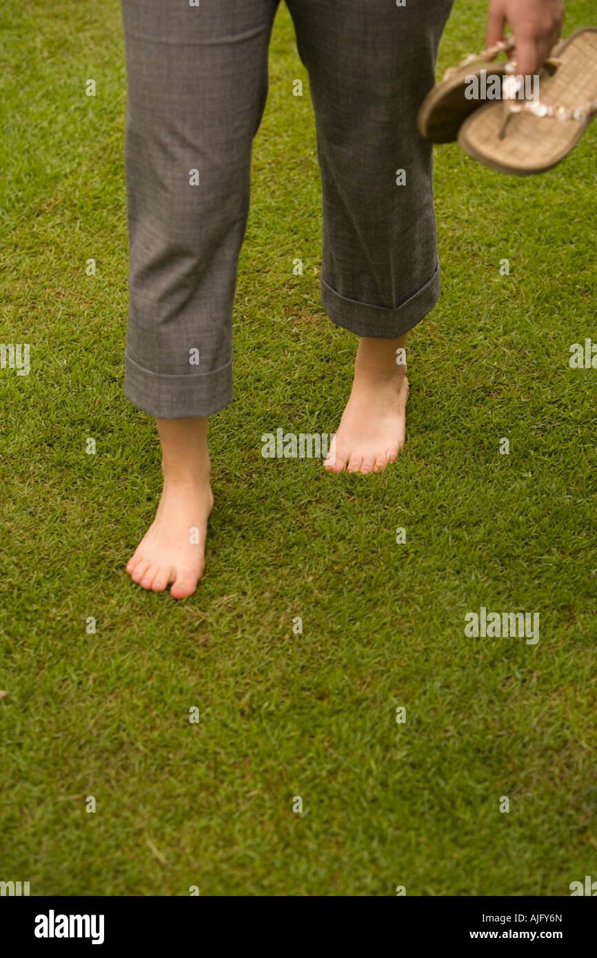 Trafalgar Square London Villages Green awareness Event - Newly laid grass turfs - Stock Image