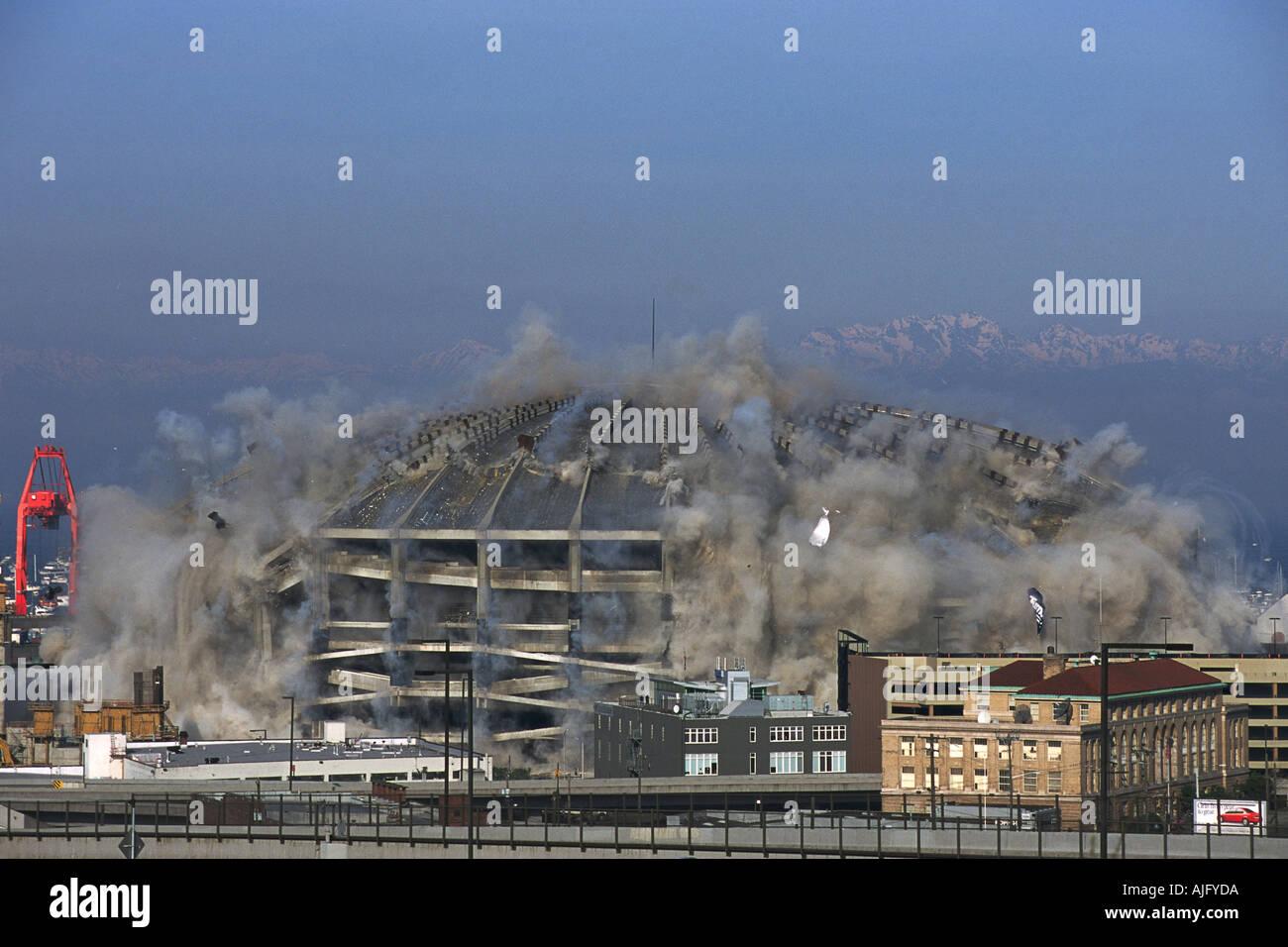 Washington Photo Kingdome Implosion View 2000 Seattle