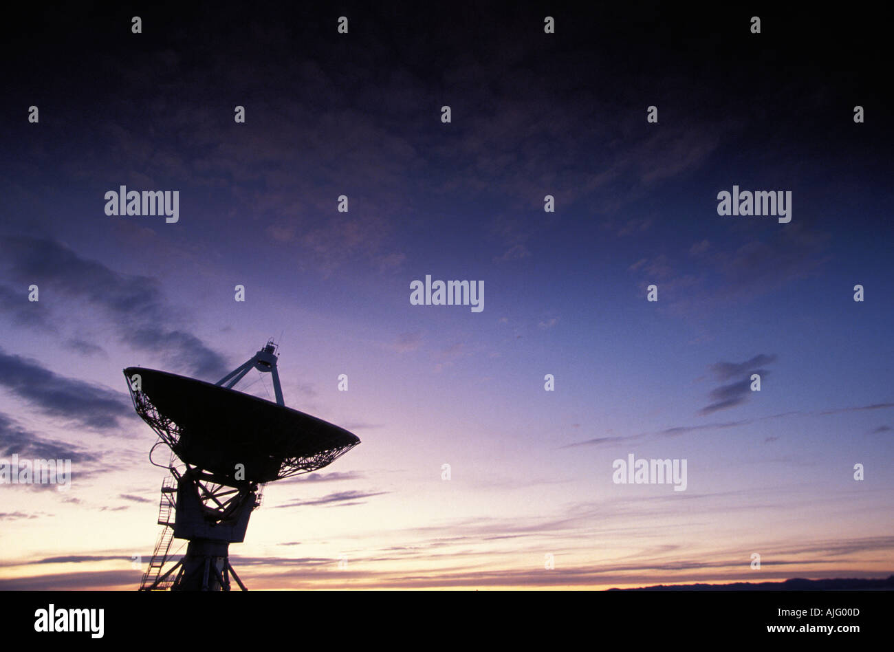 Very Large Array VLA radiotelescope Socorro NM USA - Stock Image