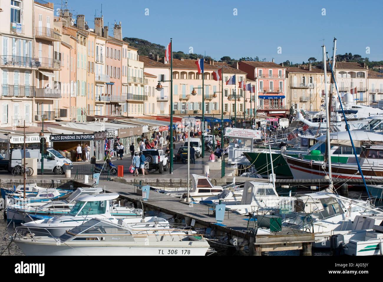 Saint Tropez Port Basin And Promenade Stock Photo 14728562 Alamy