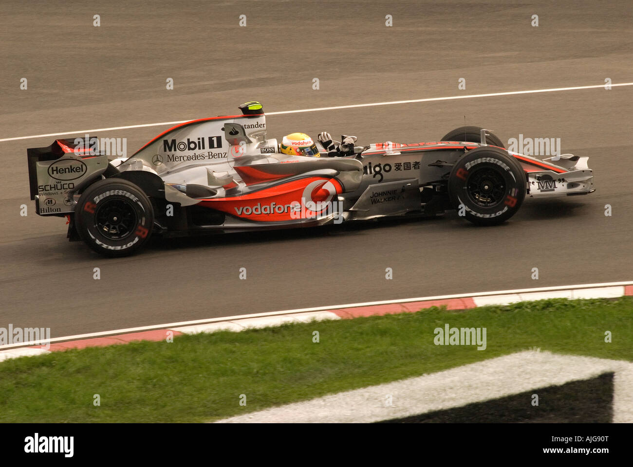 Formula 1 race car driver Lewis Hamilon from the UK at the Montreal 2007 Grand Prix June 08th/2007. - Stock Image