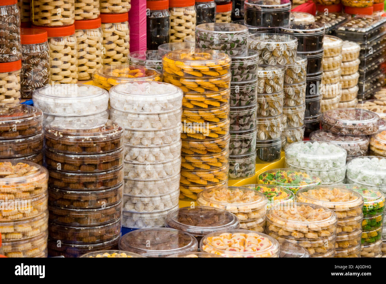 Variet of Mithai or Indian Sweets Little India Singapore - Stock Image