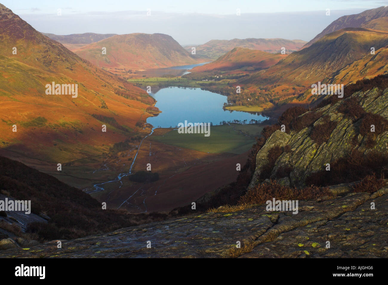 Buttermere Valley - The English Lake District Stock Photo
