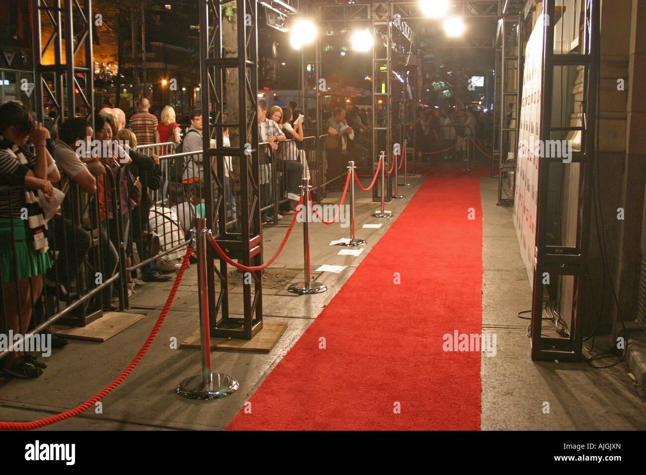 red carpet celebrity walkway - Stock Image