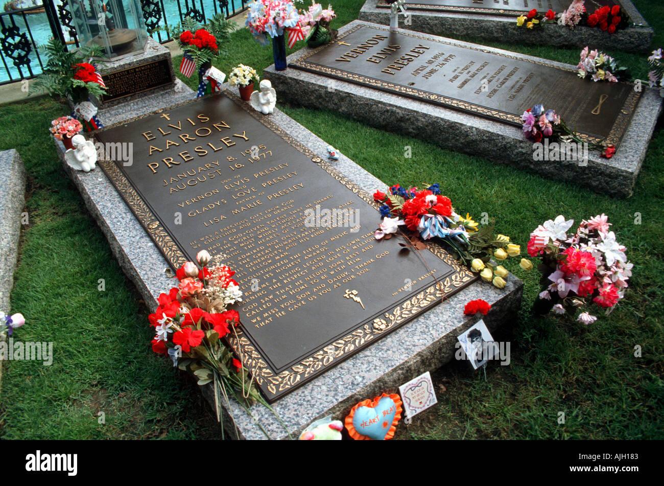 Elvis Presley Grave Stock Photos Elvis Presley Grave Stock Images
