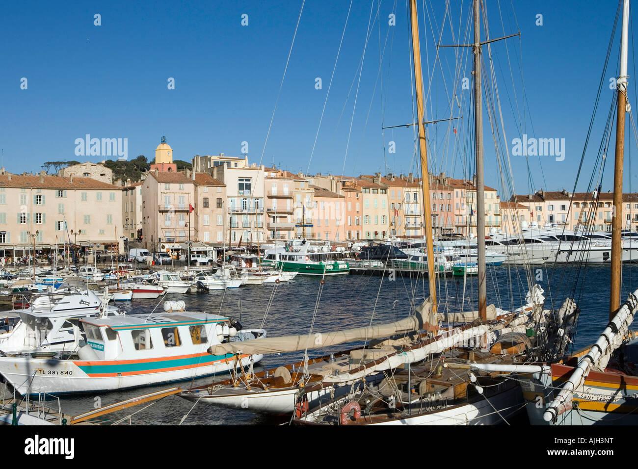 Saint Tropez Port Basin And Promenade Stock Photo 14737331 Alamy