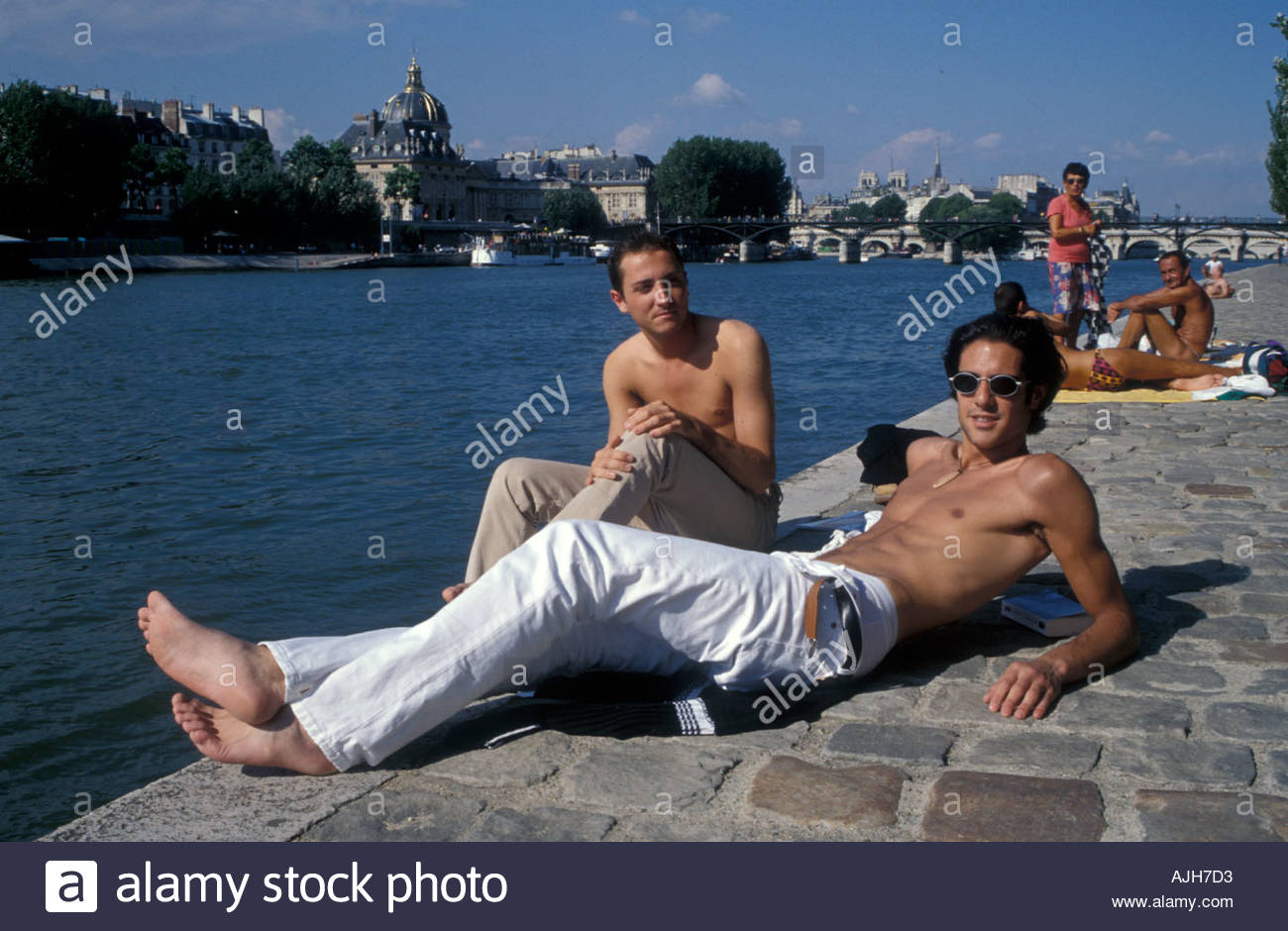 Gay sun bathing