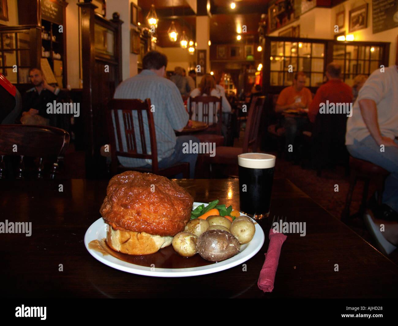 Pub food London England UK - Stock Image
