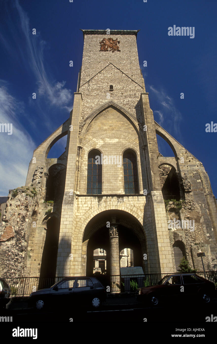 Saint Martin Basilica, St Martin Basilica, neo-Romanesque, neo-Romanesque architecture, Tours, Centre Region, France, Europe - Stock Image