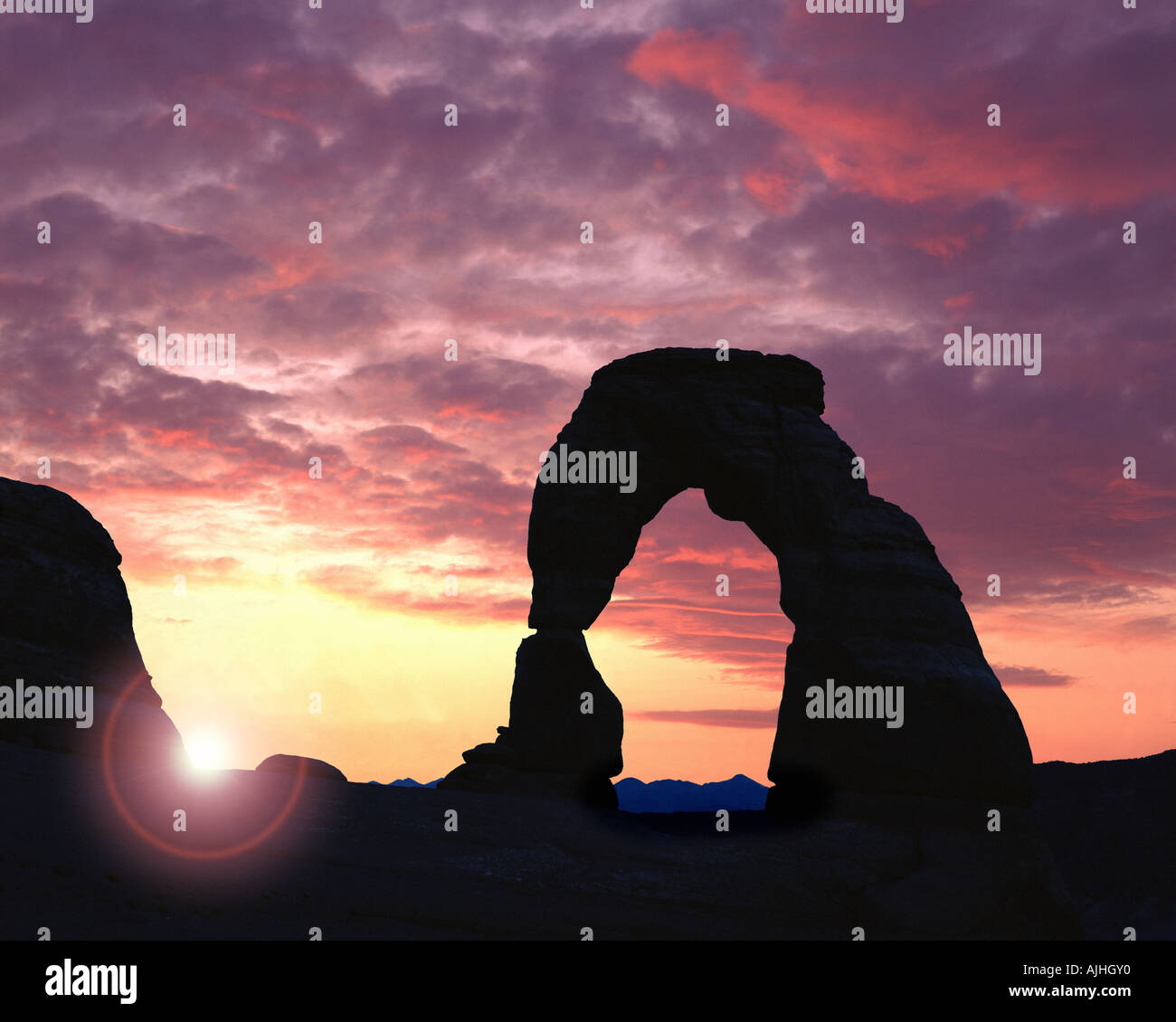 USA - UTAH:  Delicate Arch at Arches National Park - Stock Image