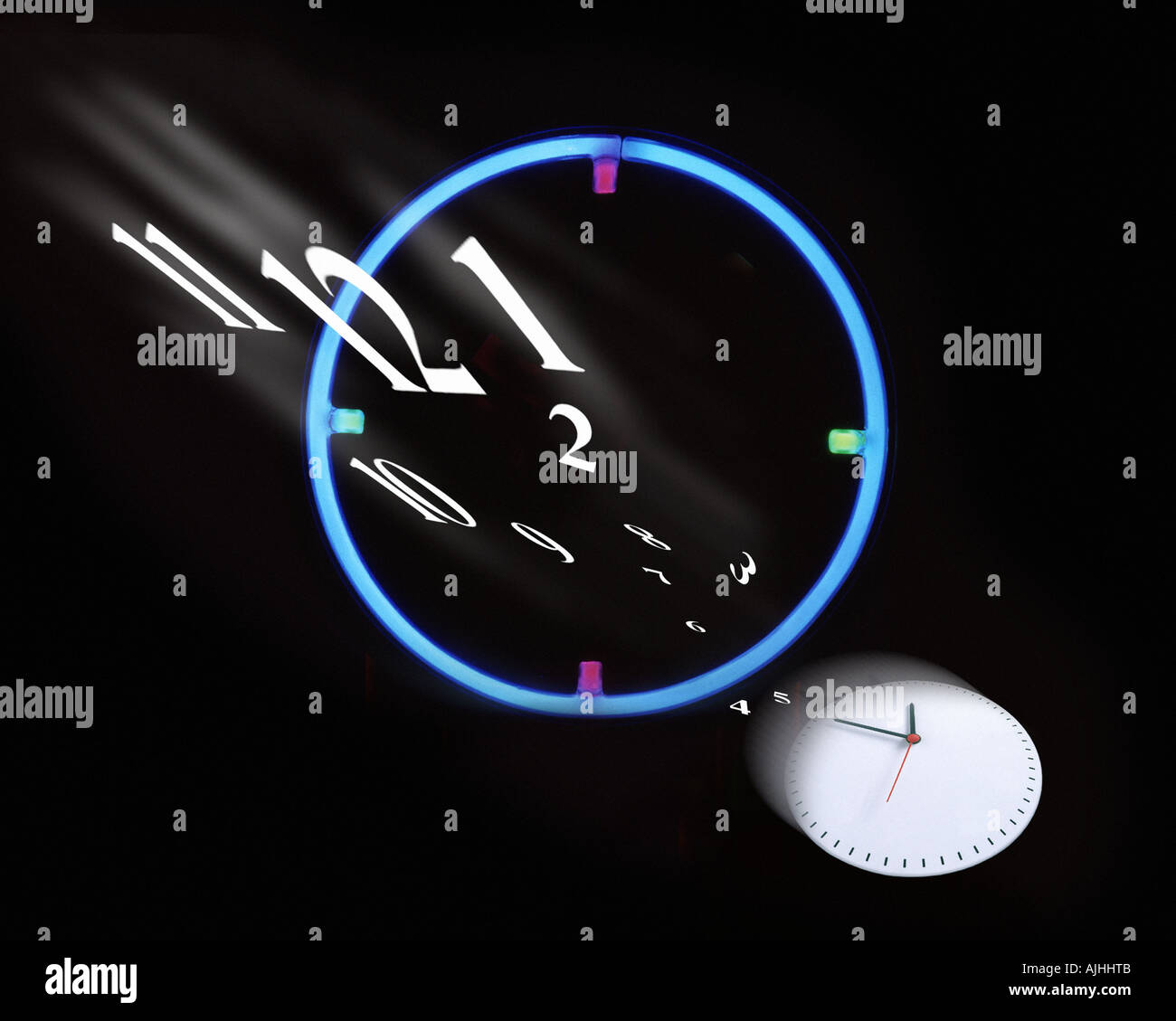 CONCEPT PHOTOGRAPHY:  Tempus Fugit or As Time Goes By - Stock Image
