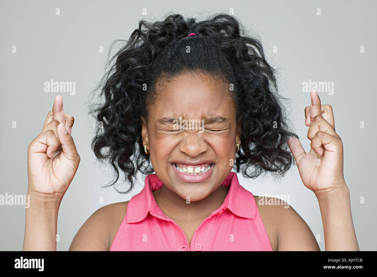 Fingers Crossed Child Stock Photos Fingers Crossed Child Stock