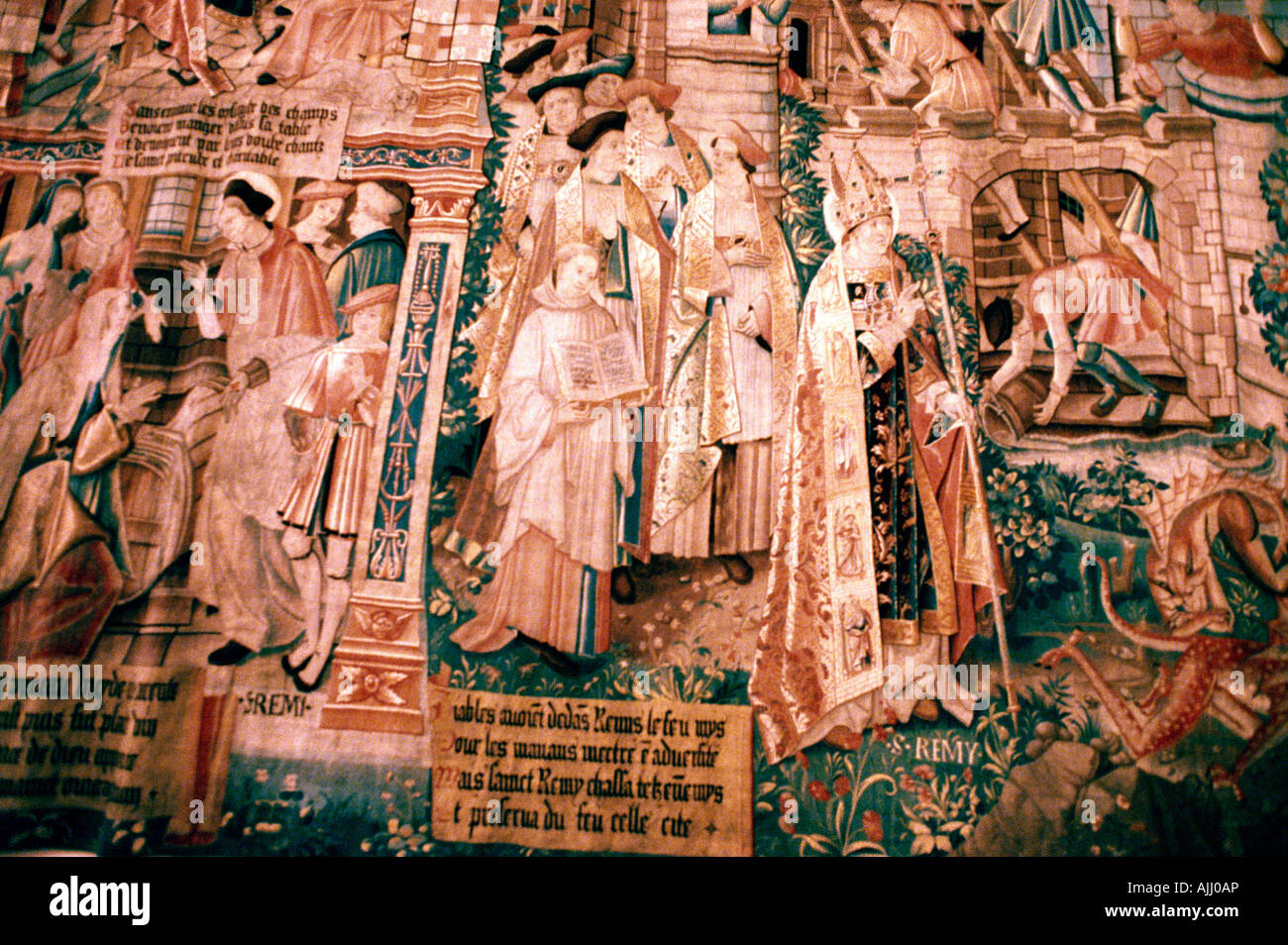 France Reims Museum Of St Remi Tapestry Of St Remi - Stock Image