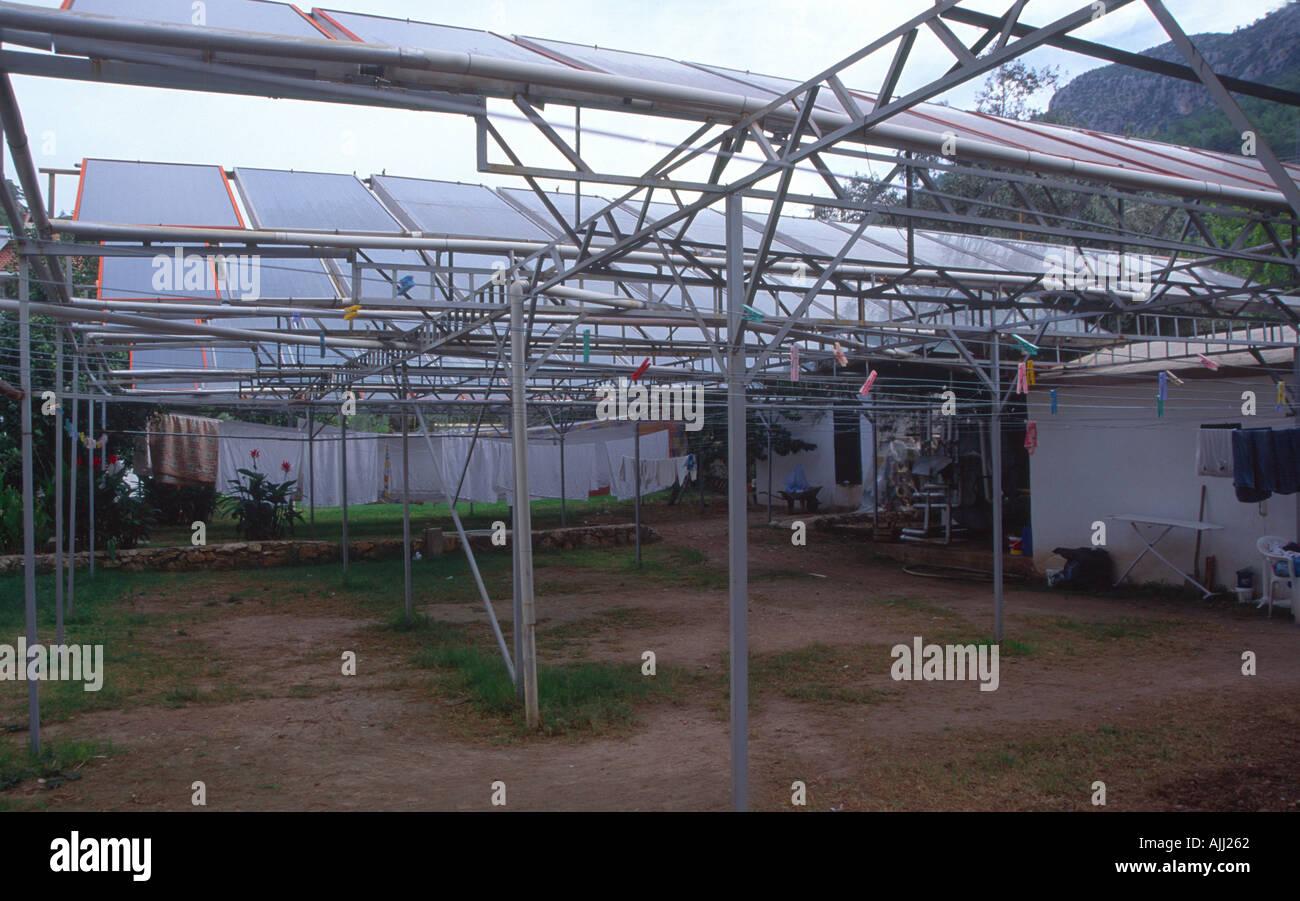 Solar panels Turkey - Stock Image