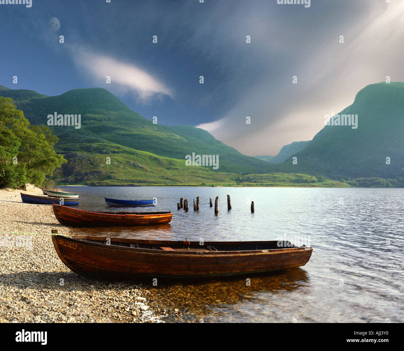 GB - SCOTLAND:  Loch Maree in the Highlands - Stock Image