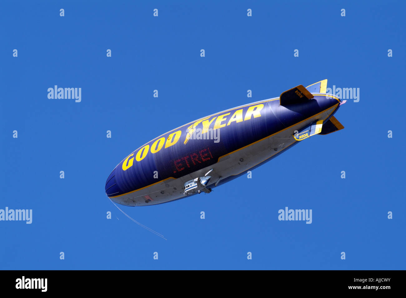 Goodyear Airship Blimp the Spirit of America in Flight California USA Registration number N10A Stock Photo