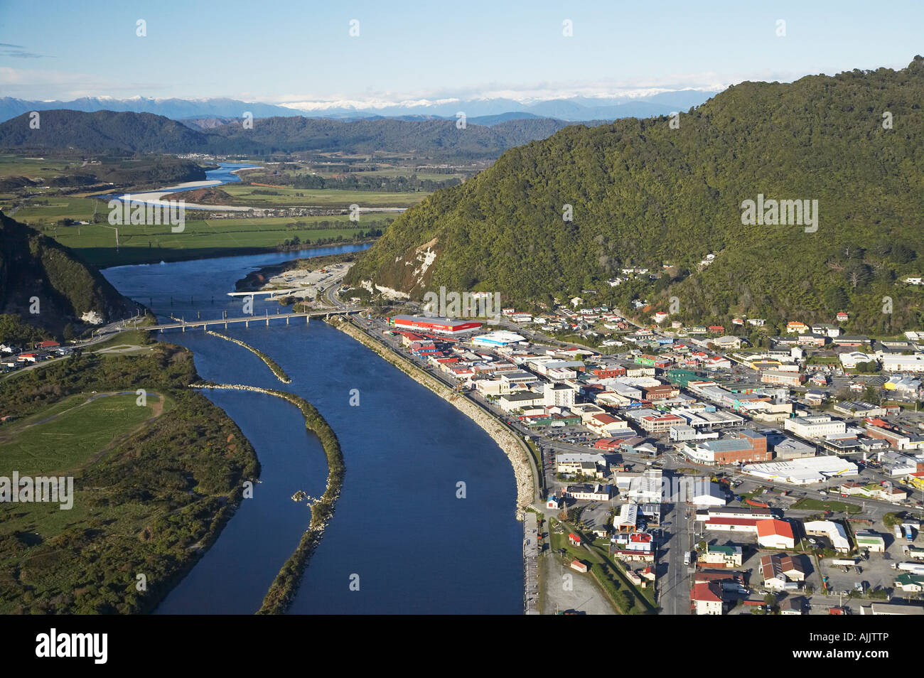 NZ Image: Grey River And Greymouth West Coast South Island New