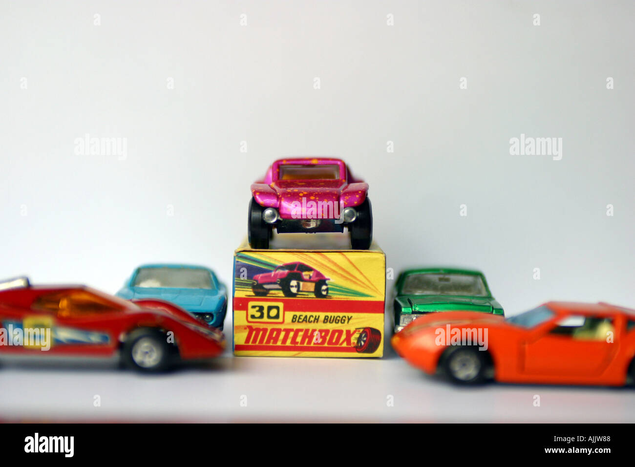 matchbox toy car with packaging Stock Photo