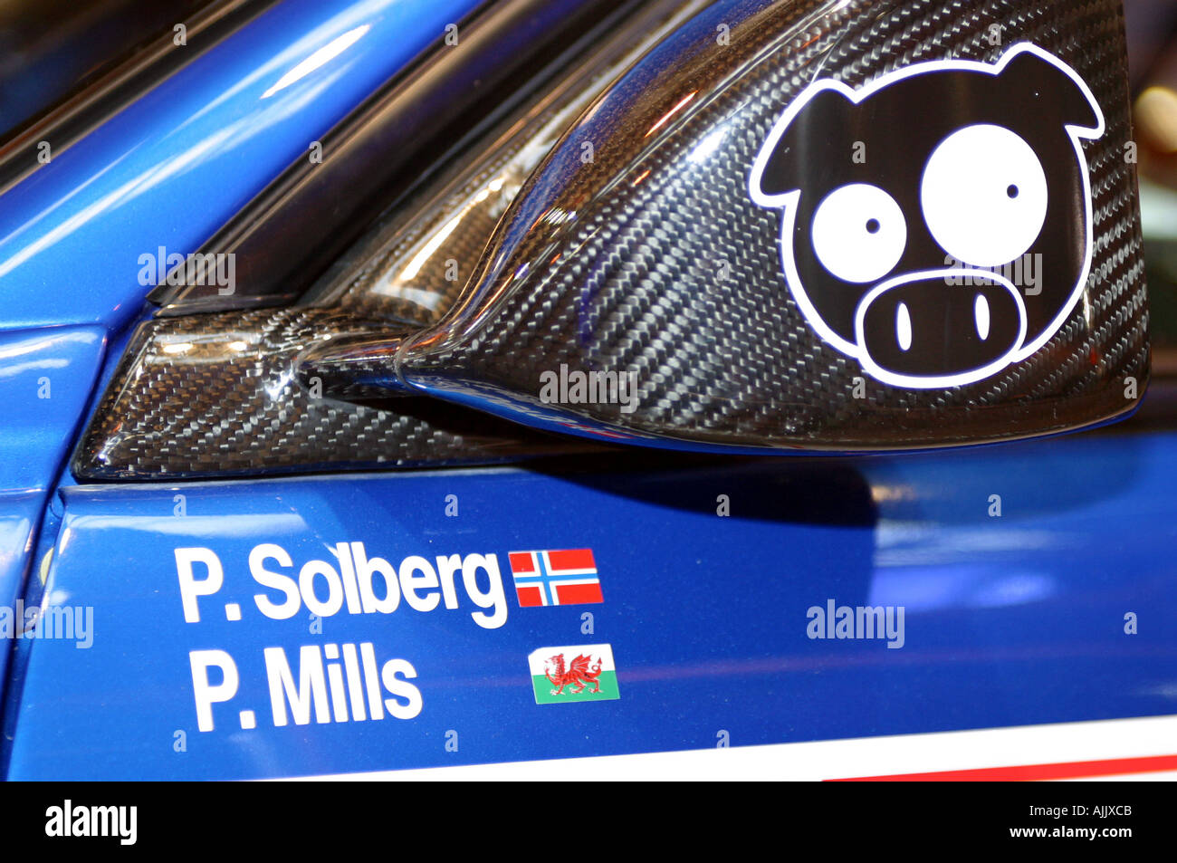 petter solberg norwegian wrc rally champion and long time team subaru rally driver - Stock Image