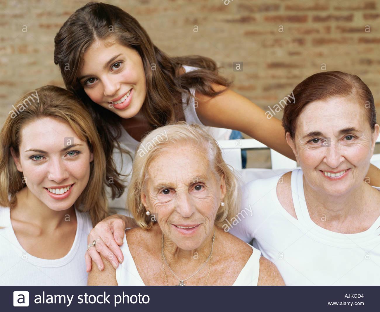 Female relatives - Stock Image