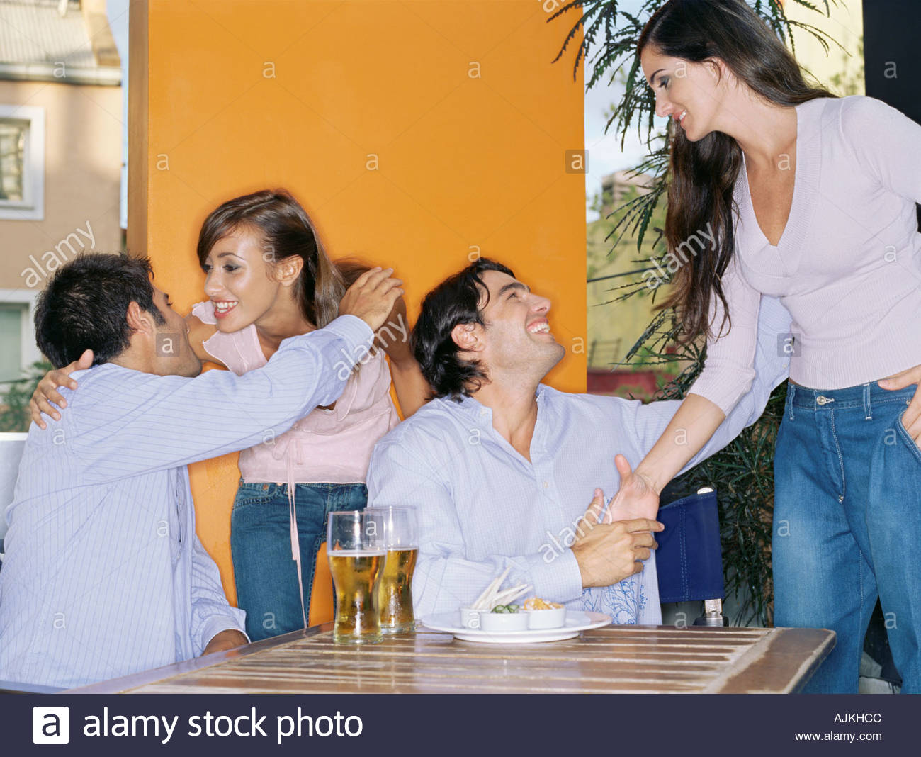 People Greeting Other Stock Photos People Greeting Other Stock