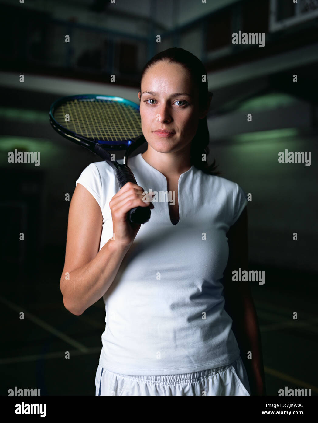 Female tennis player - Stock Image