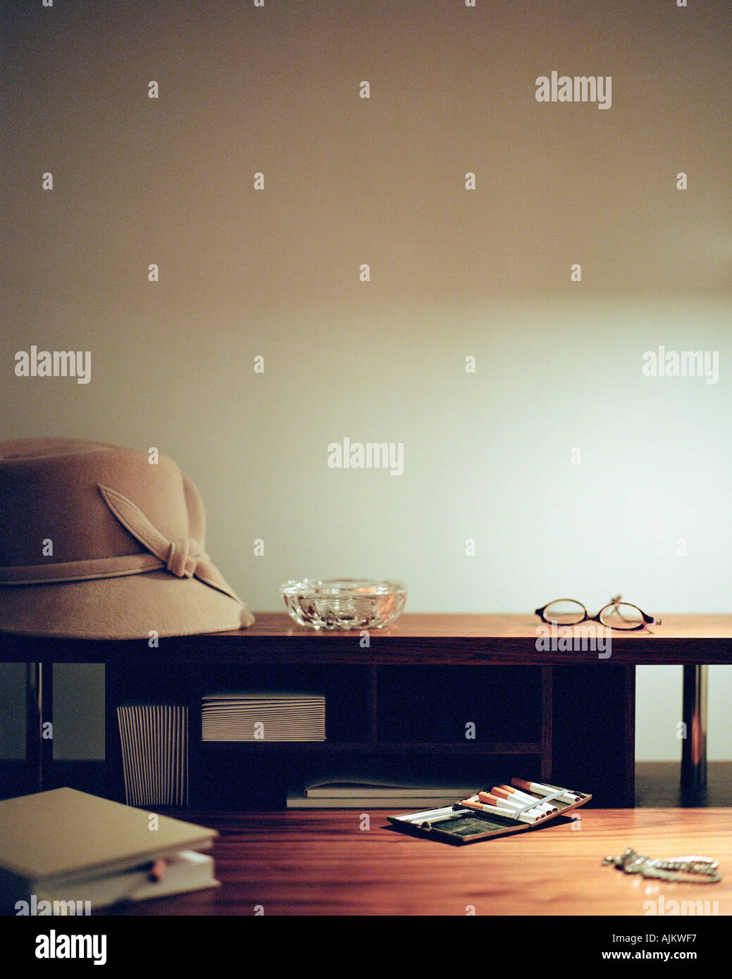 Items on a desk - Stock Image