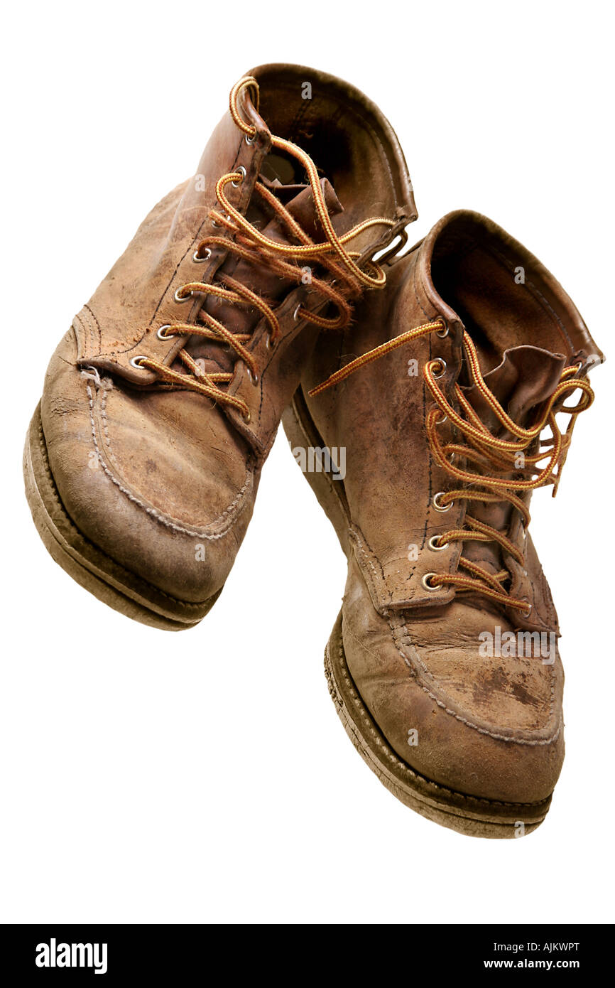 6613f7ae482 worn leather boots Stock Photo: 14763551 - Alamy