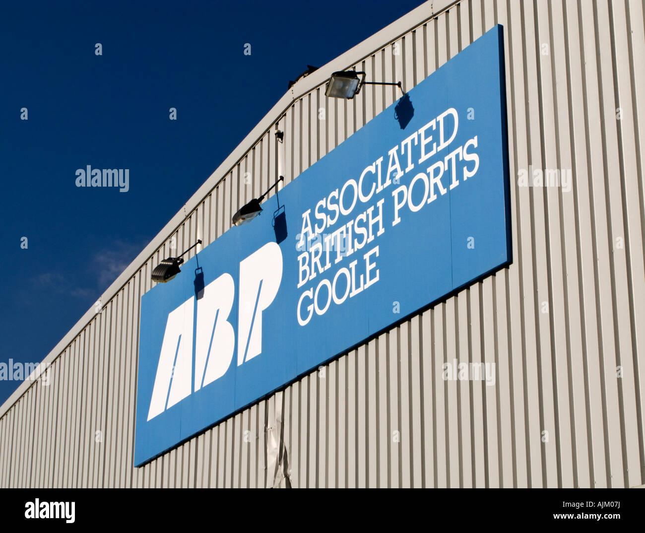 Associated British Ports sign at Goole docks, East Yorkshire, UK - Stock Image