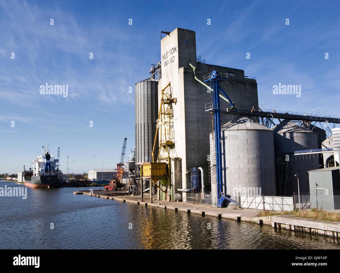 Port docks in Goole, East Yorkshire, UK - Stock Image