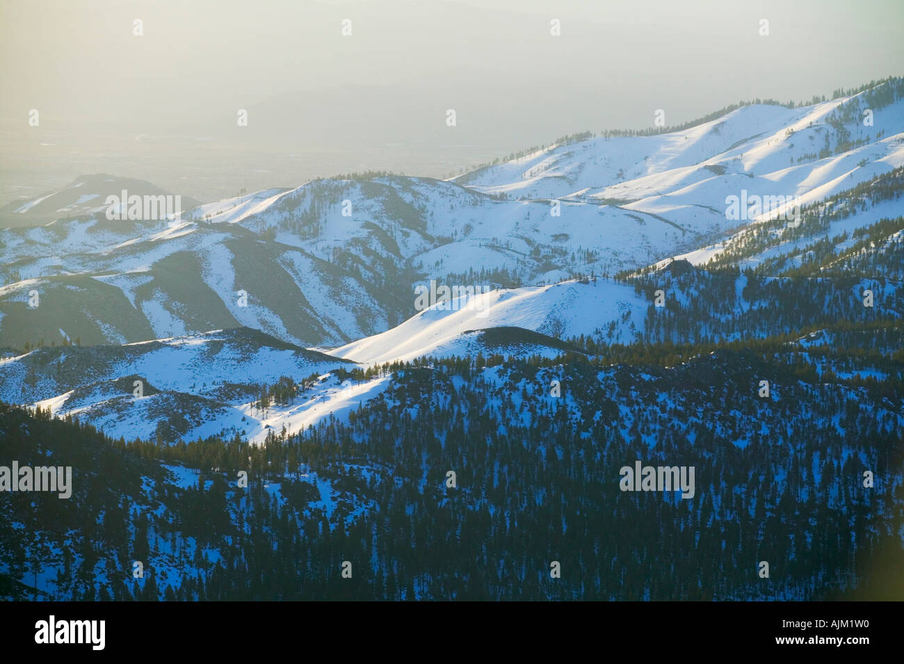 A view of Lake Tahoe NV from the top of Diamond Peak - Stock Image