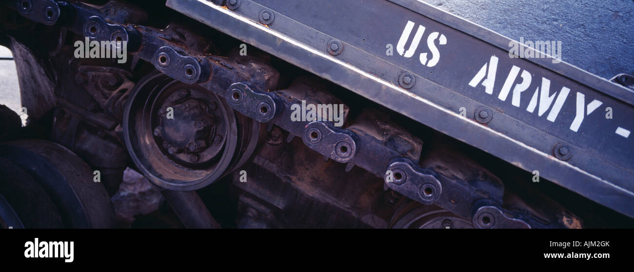 old U S army tank from Vietnam war - Stock Image