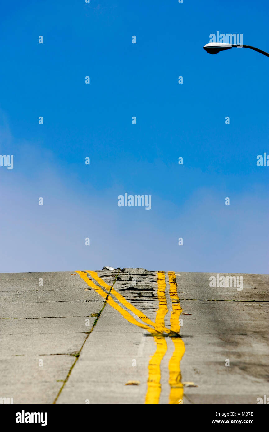 Graphic image of a steep hill in San Francisco - Stock Image