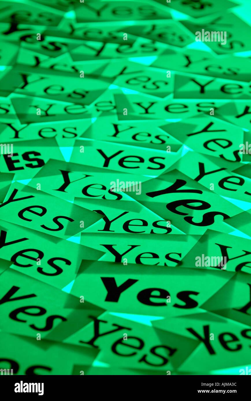 Yes votes Stock Photo