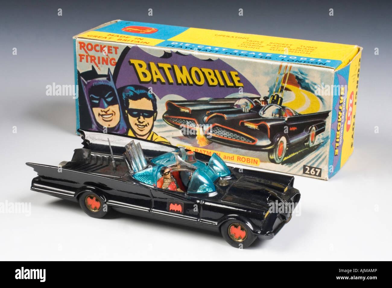 The Batmobile . Corgi Diecast model no.267. Issued 1966-1967 - Stock Image