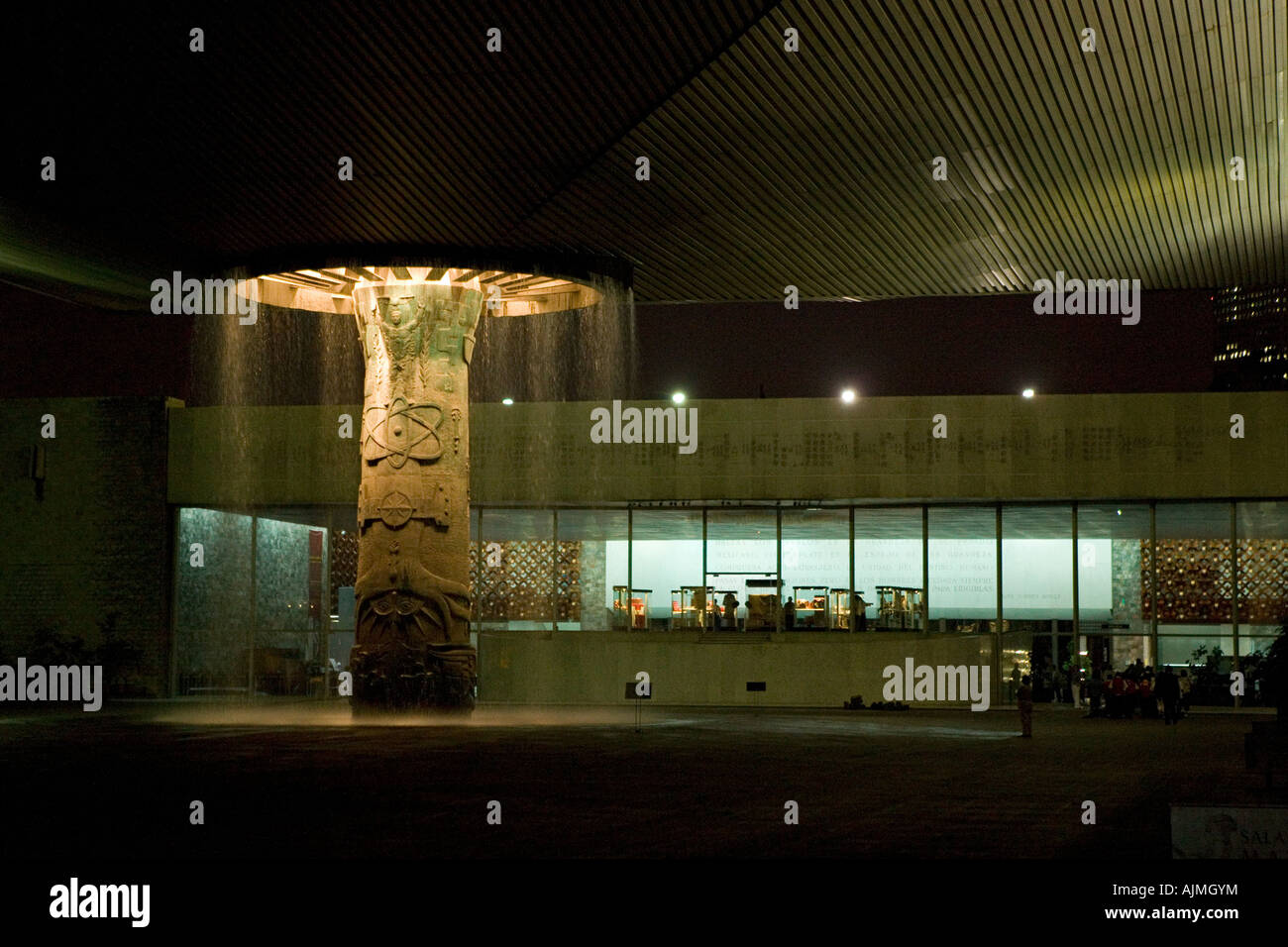 Main courtyard of Museum of Anthropology of Mexico City Mexico - Stock Image