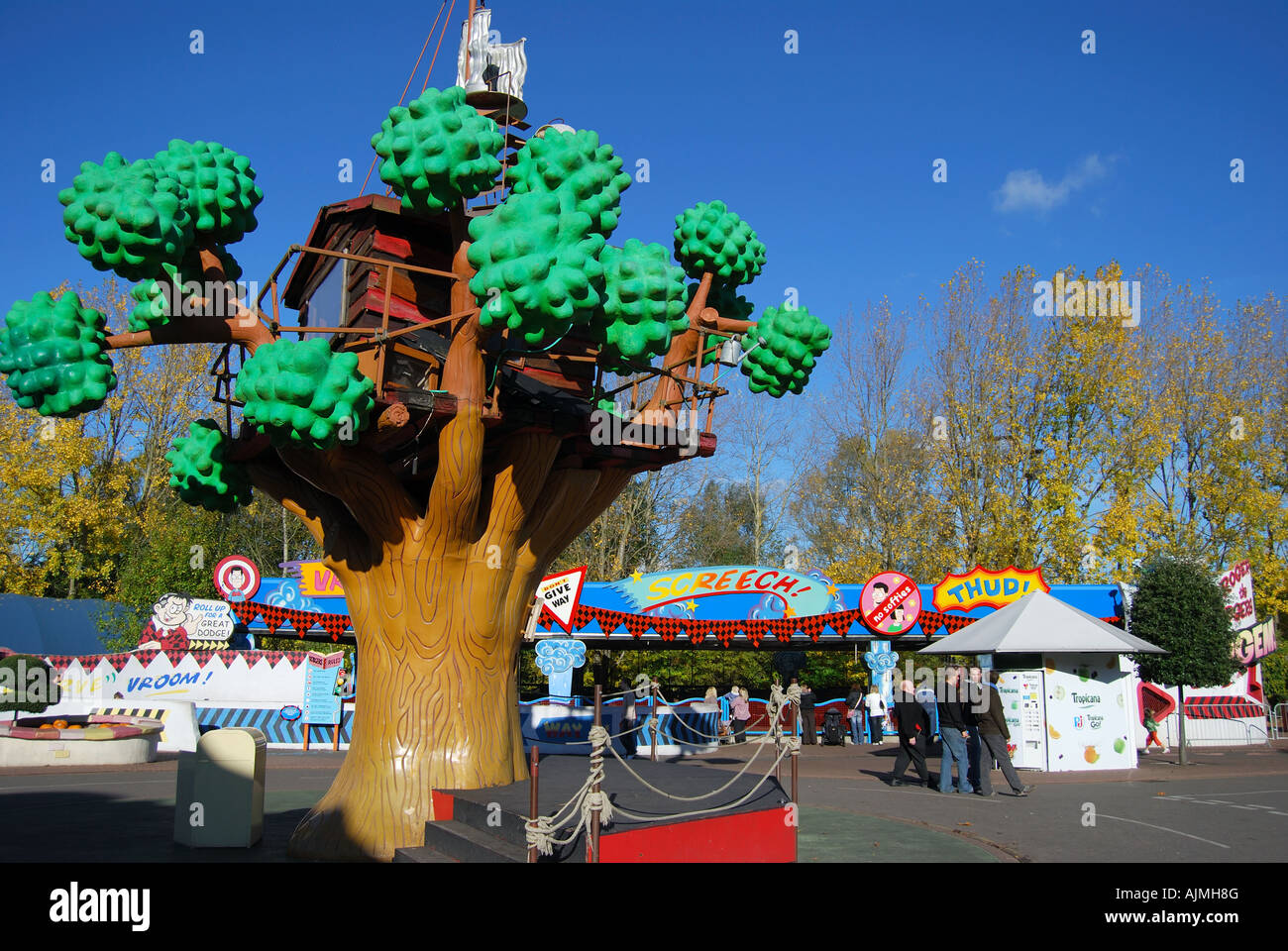 Denniss Tree House Beanoland Chessington World Of Adventures Theme Park Surrey UK England