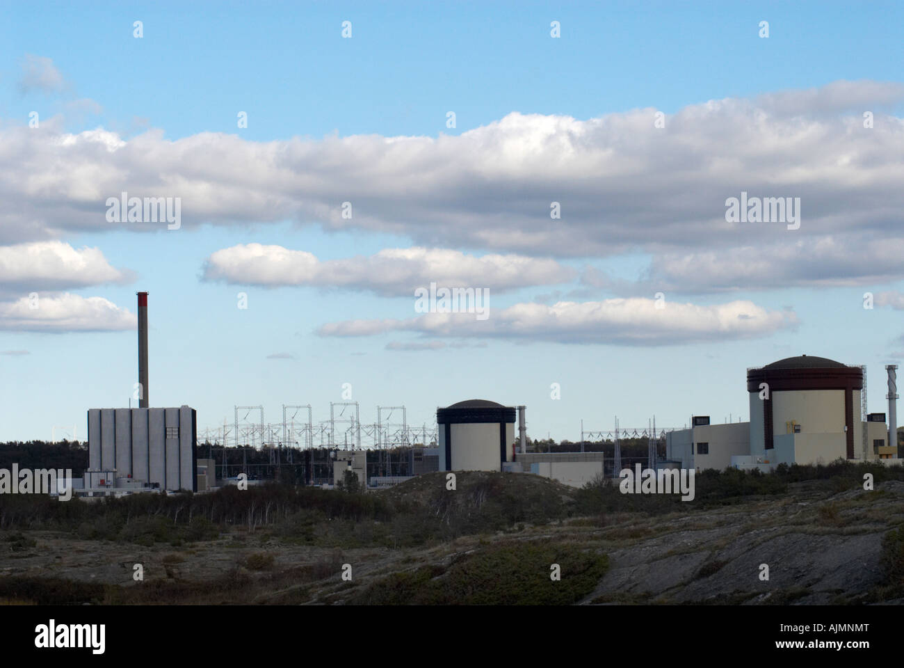 Ringhals the Swedish Nuclear Power Plant - Stock Image