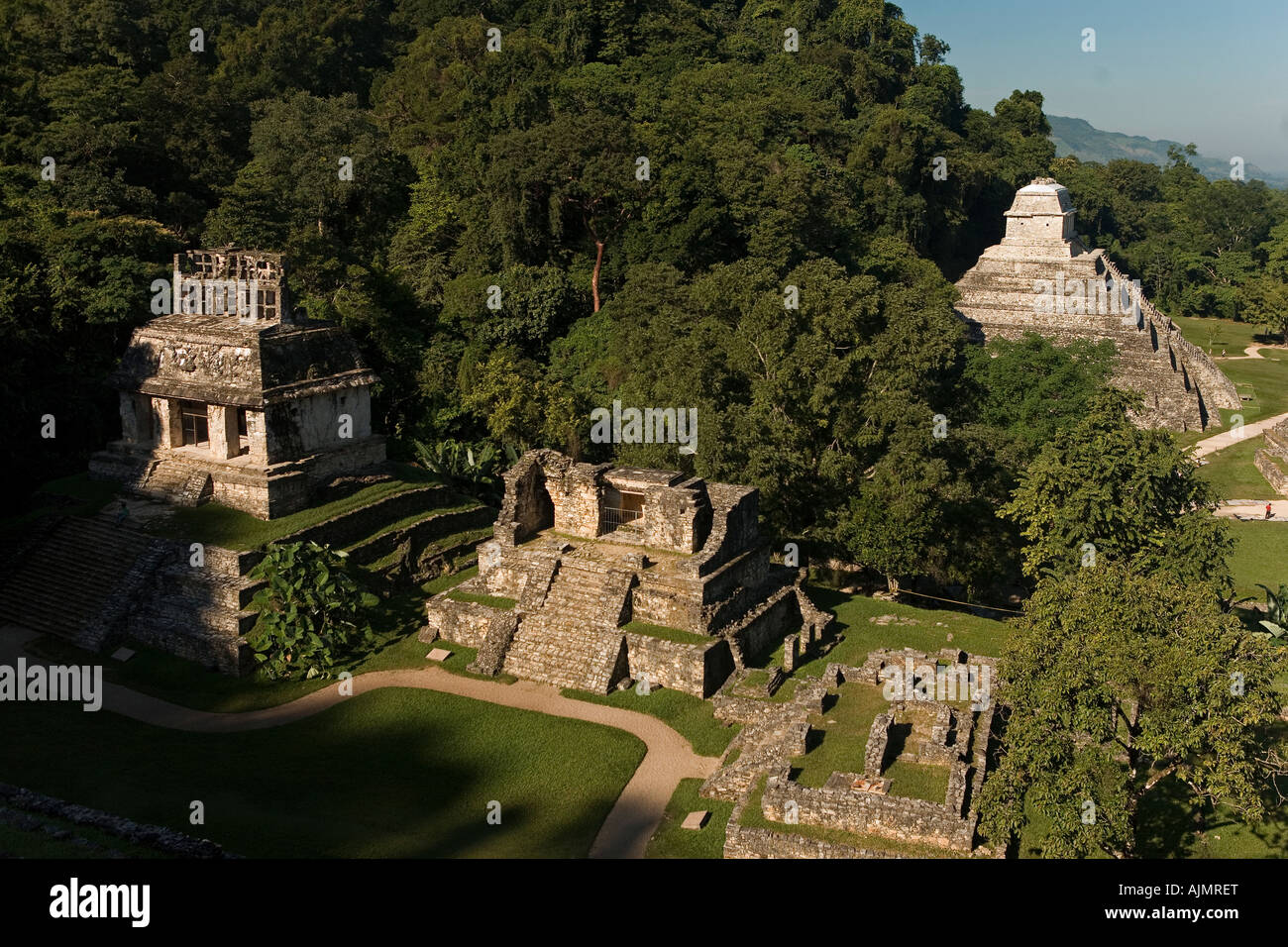 Mayan site of Palenque Chiapas Province Mexico 2005 - Stock Image