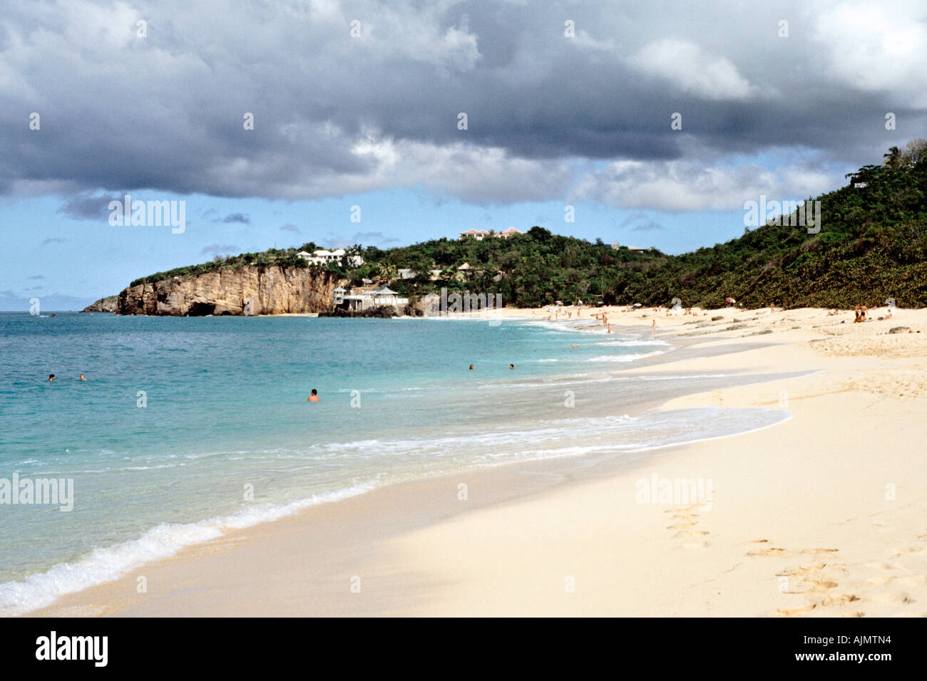 Baie Rouge (Red Bay) on the French island of Saint Martin in the Caribbean. - Stock Image