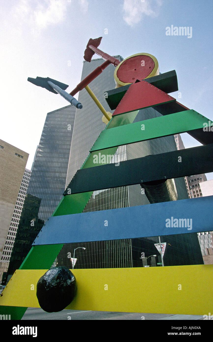 USA Texas Houston Sculpture public art Personage birds by Joan Miro - Stock Image