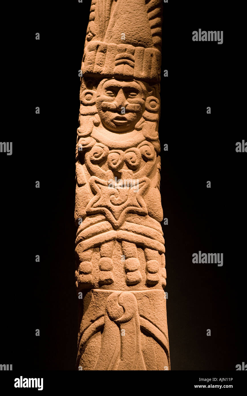 Totem of Quetzalcoalt Ehecatl Museum of Anthropology of Mexico City Mexico - Stock Image