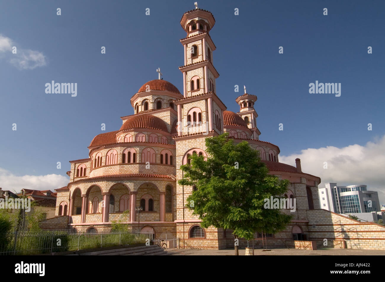Cathedral in Korce south west Albania - Stock Image