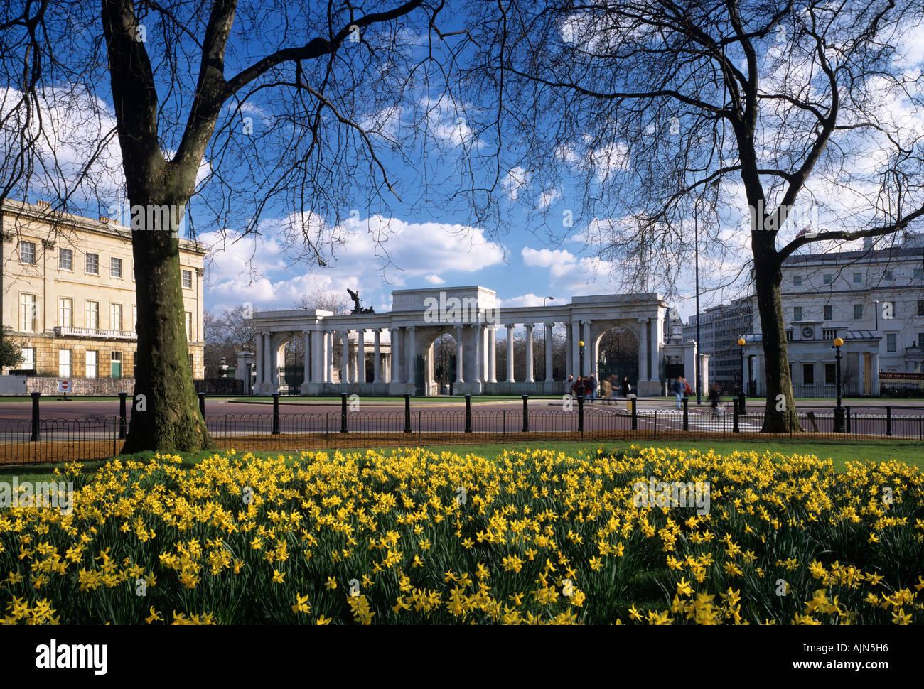 Hyde Park Corner, London, England, UK - Stock Image