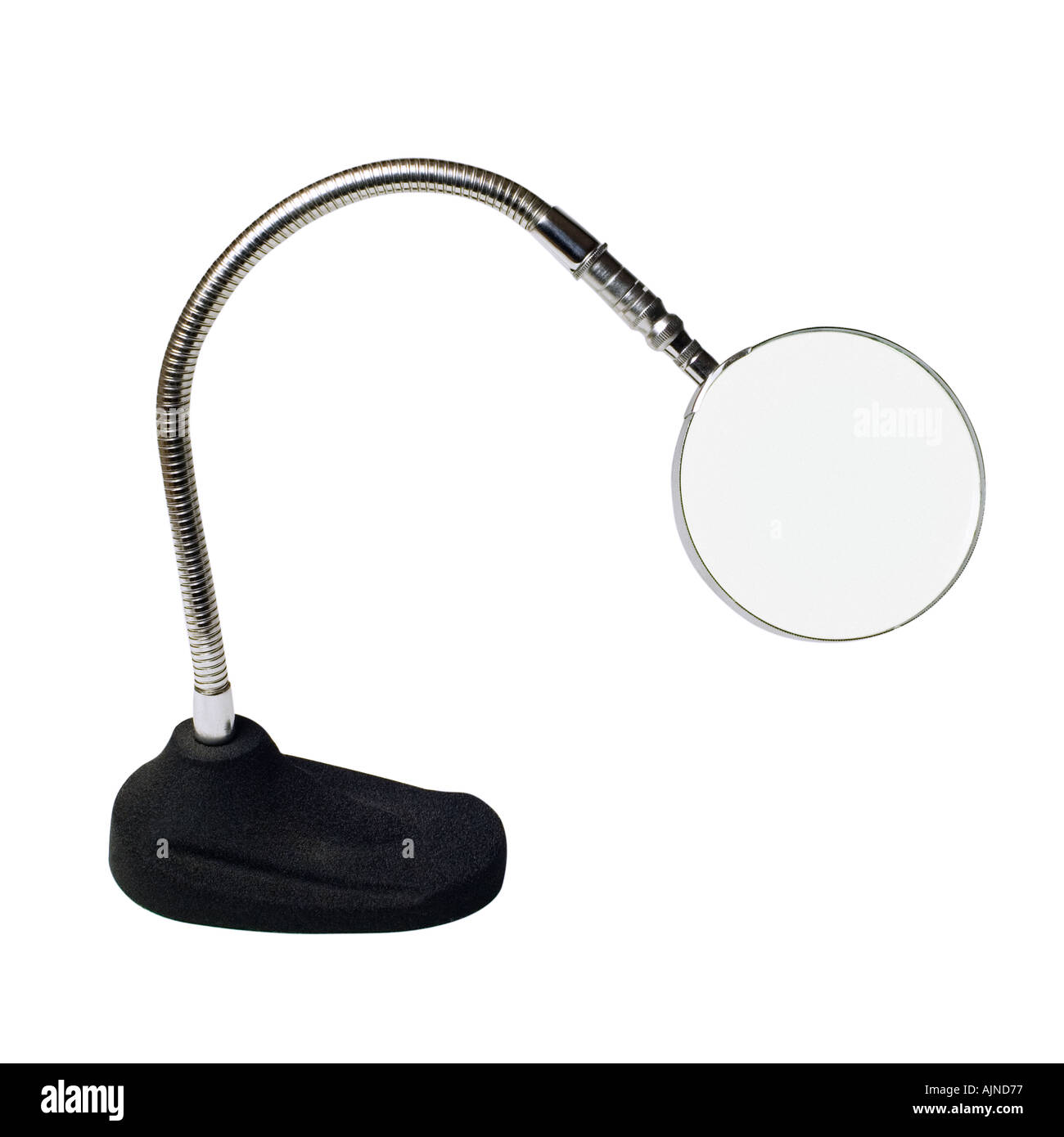 MAGNIFYING GLASS ON WHITE BACKGOUND - Stock Image