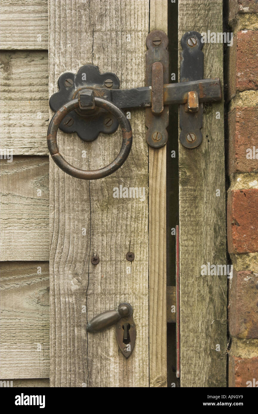 The lock and latch of a garden gate Stock Photo 8445368 , Alamy