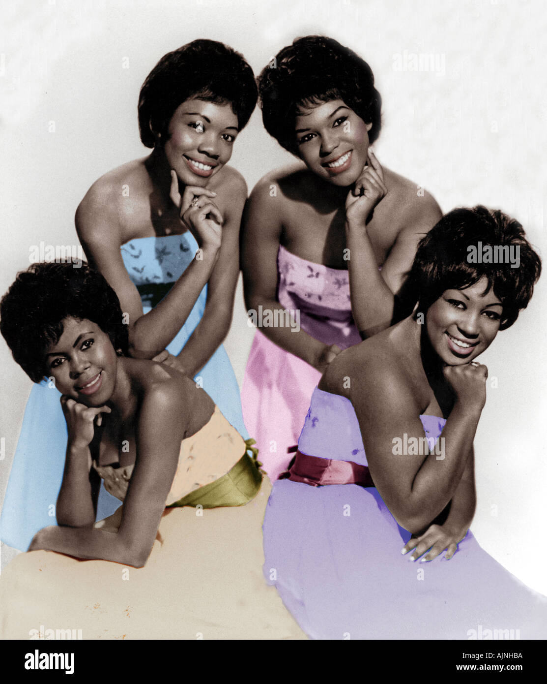 SHIRELLES US vocal group from l Beverly Lee Doris Kenner Shiley Alston Micky Harris - Stock Image