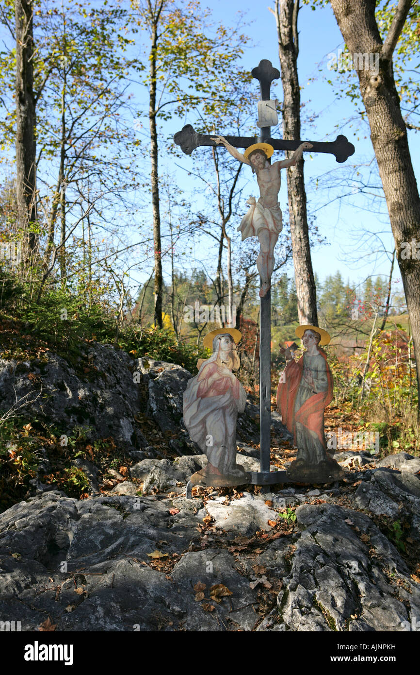 memorial place near Lechfall in Fussen Bavaria Germany - Stock Image