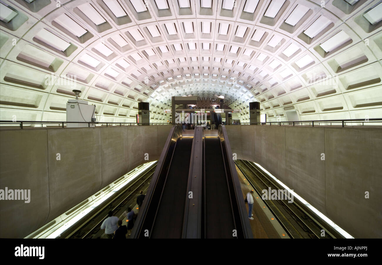 Washington DC Gallery Place Chinatown Metro subway Station with aerosol air quality security sniffer monitor Stock Photo